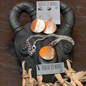 Robert Lee Morris Two-Tone Necklace & Earrings Set